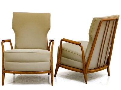 Giuseppe Scapinelli, 'Armchairs in Tropical Wood', ca. 1955