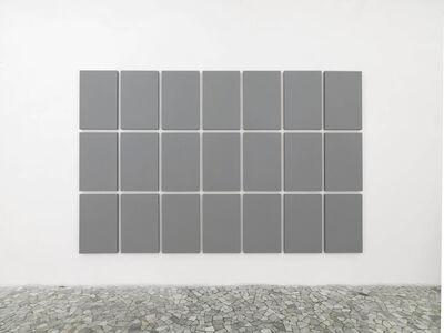 Alan Charlton, 'Grid painting 3 x 7 ', 2009