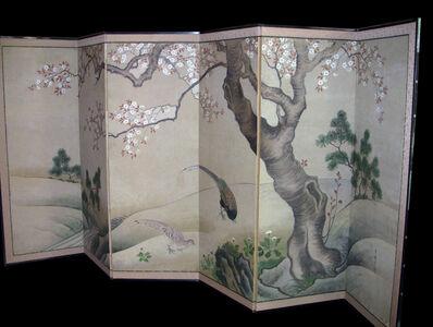 Unknown Japanese, 'Six-Panel Screen of Pheasants', Edo Period