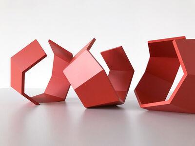 Thomas Lendvai, 'Untitled (Red Heptagon)', 2018
