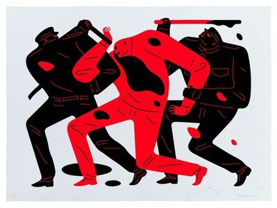 Cleon Peterson, 'The Disappeared (White)', 2019