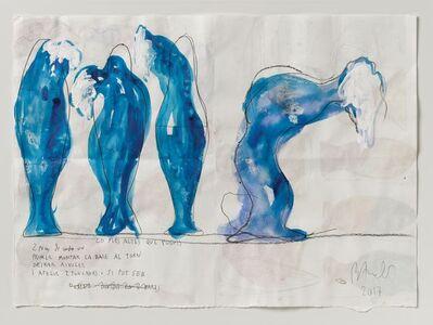 Miquel Barceló, 'Preparatori per grup urnes blaves', 2017