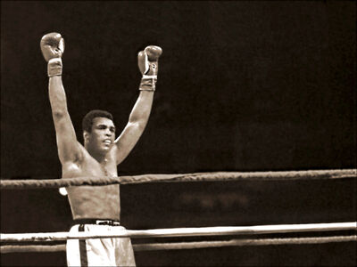 Michael Gaffney, 'Muhammad Ali at the end of the last round against Leon Spinks', 1978