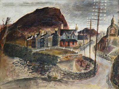 Walter Goetz, 'View of a Welsh village'