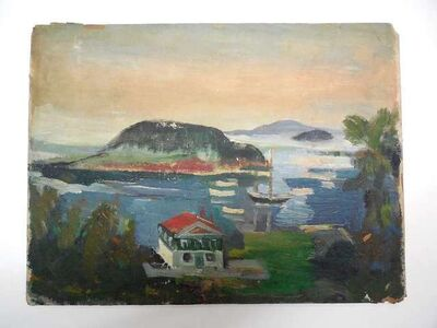 Frederick B. Serger, 'Boat House on the Lake', 20th Century