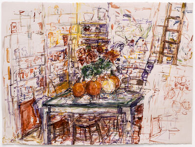 Judy Glantzman, 'Pumpkins and Ladder', 2014