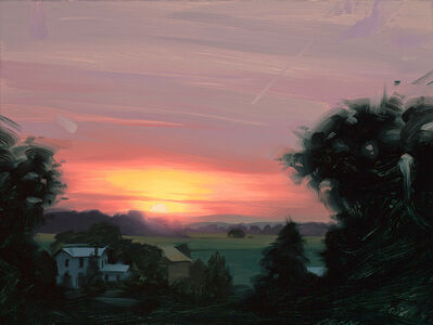 Rob Rey, 'Sunset Over the Farm', 2020