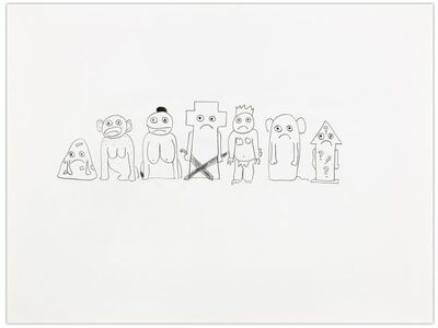 Olaf Breuning, 'The humans - first drafts', 2007