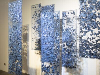 Shi Jindian 师进滇, 'Blue Pieces', 2017