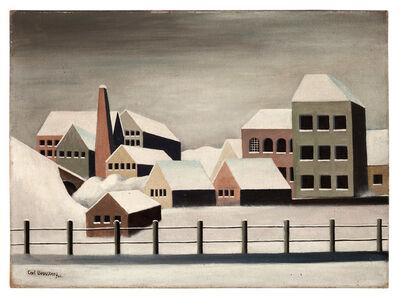 Carl Grossberg, 'Fabriklandschaft im Schnee', 1923
