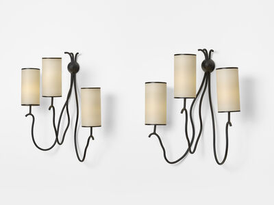 Jean Royère, 'Pair of Liane wall lamps', 1962