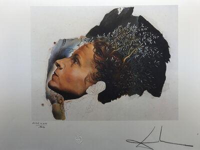 Salvador Dalí, 'Début automatique d'un Portrait de Gala (Inachevé) (1932)', 1988