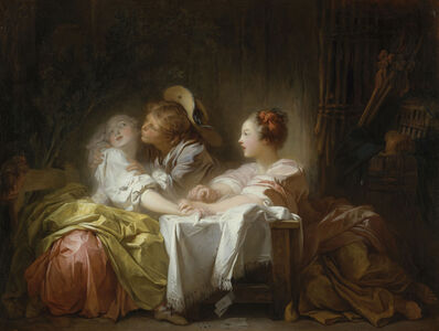 Jean-Honoré Fragonard, 'The Stolen Kiss', 1759-1760
