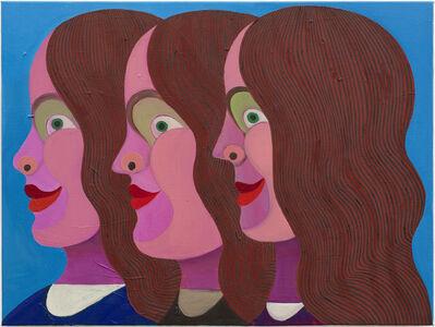 Christoph Ruckhäberle, 'Drei Frauen (three woman in profile)', 2011
