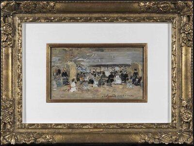 Eugène Boudin, 'Trouville, Scène de plage', 1888-1895