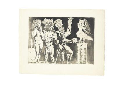 Pablo Picasso, 'Chez la Pythie-Harpye. Homme au Masque de Minotaure et Femme au Masque de Sculpteur (S.V. 24)', 1934