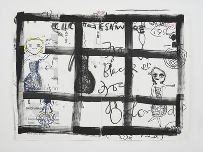 Rose Wylie, 'Clothes I Wore #13', 2019