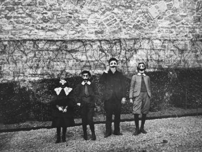 Jacques Henri Lartigue, 'Mardi Gras with Bouboutte, Louis, Robert and Zissou, Paris', 1903