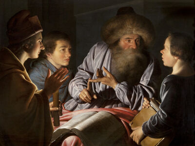 Willem van der Vliet, 'A Philosopher and his Pupils', 1626