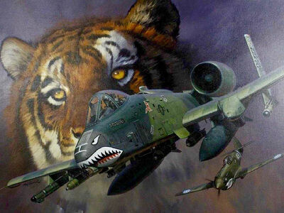 Roy Grinnell, 'Tiger & Fighter Plane', 20th Century