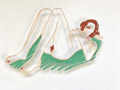 Tom Wesselmann, 'Blonde on Blanket (unique color variation)', 1985-1998