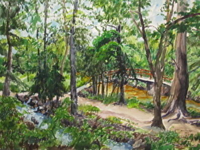 Richard Fitzhugh, 'Rock Creek Park Near Tilden Street'