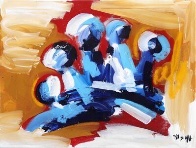Ash Almonte, 'Blue Red Tan Crown', 2019
