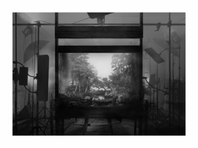 Hans Op de Beeck, 'Staged Exterior (forest) (black and white)', 2018