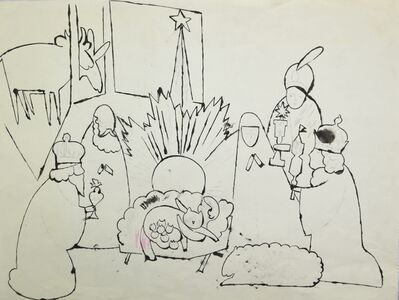 Andy Warhol, 'Untitled (Nativity Scene)', ca. 1954
