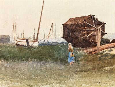 Dennis Miller Bunker, 'The Fisher Girl, Nantucket', 1881