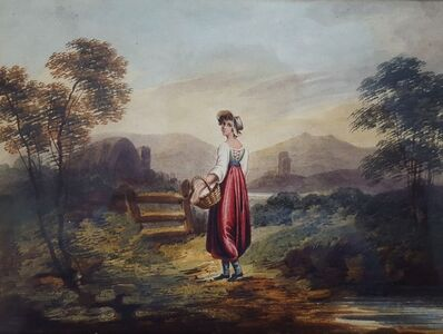 Henry Singleton, 'Girl with Basket', ca. 1825