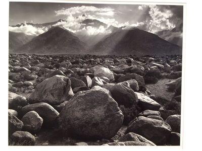 Ansel Adams, 'Mount Williamson Sierra Nevada from Manzanar, California', 1944-printed 1970
