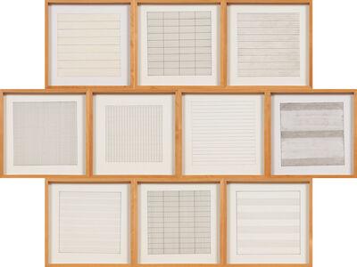 Agnes Martin, 'Paintings and Drawings : Stedelijk Museum Portfolio', 1991