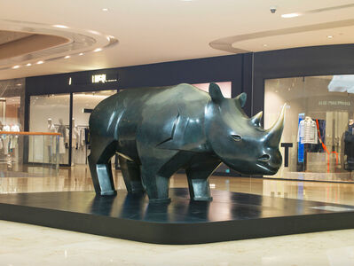 Daniel Daviau, 'Rhinoceros, monumental model', 2010