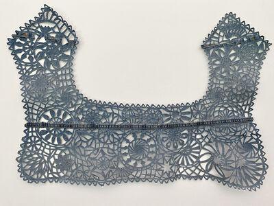 Libby Newell, 'Meticulously Distressed Denim Collar, Ñandutí Lace', 2021