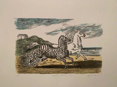 Giorgio de Chirico, 'Cavallo e zebra (Prima versione)', 1974