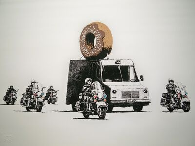 Banksy, 'Banksy Chocolate Donuts Print Edition of 299 Full Pest Control Pictures On Walls', 2009