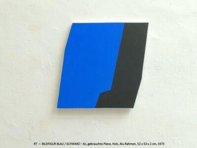 Rainer Tappeser, 'BILDFIGUR BLAU/SCHWARZ', 1973