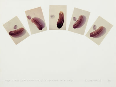 John Baldessari, 'Five Pickles (With Fingerprints in the Shape of a Hand), from Artists & Photographers', 1975