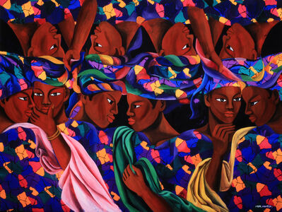 Kangja JUNG, 'The Women in a Clothes Market (Gambia)', 1989