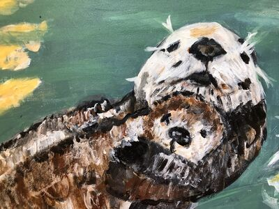 Marjorie Magid, 'Momma and Baby Otter', 2017