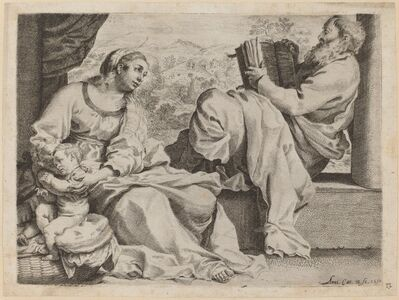 Annibale Carracci, 'The Holy Family with Saint John the Baptist', 1590