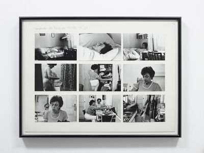 Friedl Kubelka, 'Tagesportrait: Lore Bondy am 9.8.1976, 7:30 - 22:15', 1976