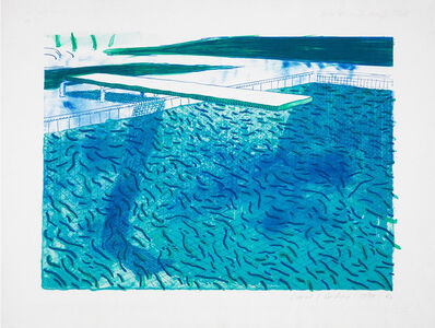 David Hockney, 'Lithograph of Water Made of Thick and Thin Lines, A Green Wash, A Light Blue Wash, and a Dark Blue Wash', 1978-80