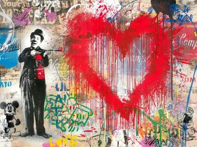 Mr. Brainwash, 'Spray Love', 2019