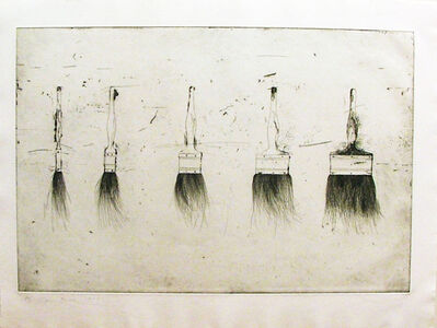 Jim Dine, 'Five Paintbrushes (first state)', 1972