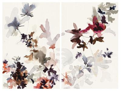 Jen Garrido, 'Wildflowers Lilac and Smoke 3 A & B', 2018