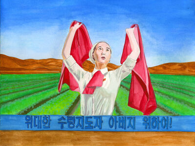 Mina Cheon, 'Farming and Flagging for Our Dear Leader Father', 2013