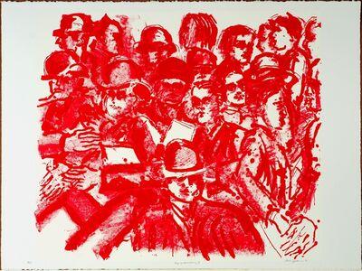 Lester Johnson, 'Tip of Broadway I', 1991