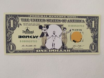 "Banksy, 'BANKSY DISMALAND US DOLLAR ""NAPALM"", DISMAL DOLLAR, COMPLETE WITH COA,', 2015"